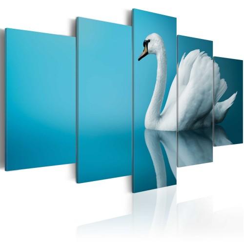 Quadro - Cigno in azzurro - Quadri e decorazioni