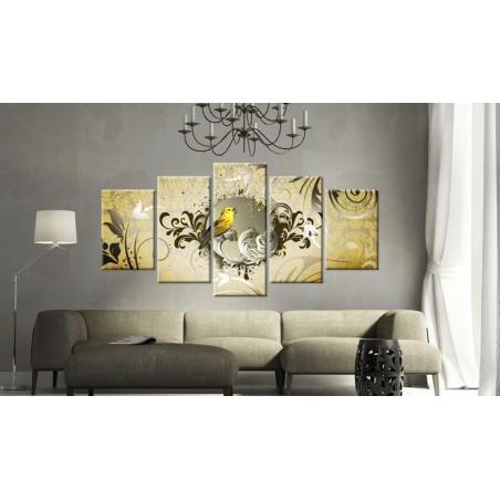 Quadro - Canto dell'uccello giallo - Quadri e decorazioni