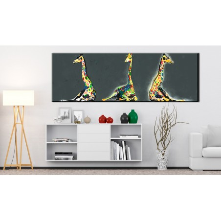Quadro - Colourful Giraffes - Quadri e decorazioni