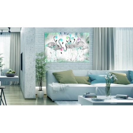 Quadro - Turquoise Flamingoes - Quadri e decorazioni