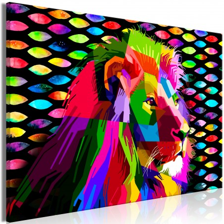 Quadro - Rainbow Lion (1 Part) Wide - Quadri e decorazioni