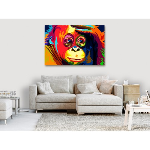 Quadro - Colourful Orangutan (1 Part) Wide - Quadri e decorazioni