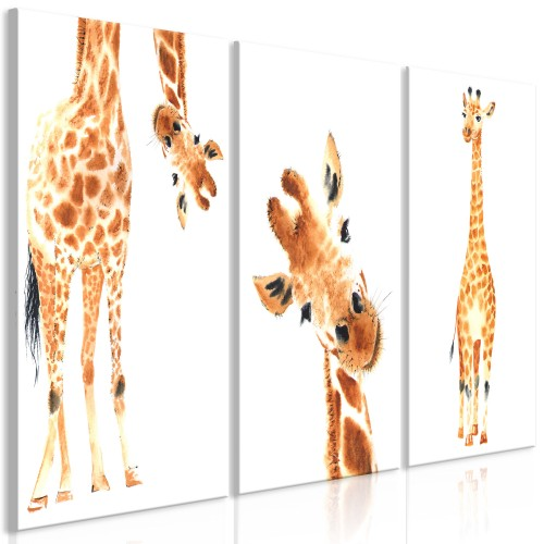 Quadro - Funny Giraffes (3 Parts) - Quadri e decorazioni