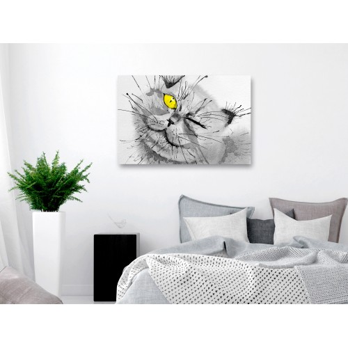 Quadro - Happy Look (1 Part) Wide Yellow - Quadri e decorazioni