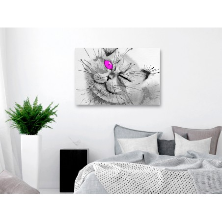 Quadro - Happy Look (1 Part) Wide Pink - Quadri e decorazioni