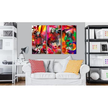 Quadro - Crazy Monkeys - triptych - Quadri e decorazioni