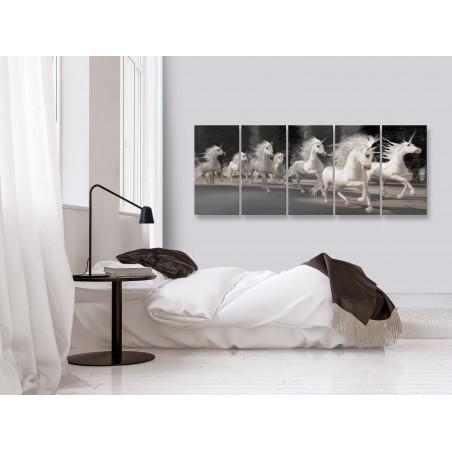 Quadro - Unicorns Run (5 Parts) Narrow - Quadri e decorazioni