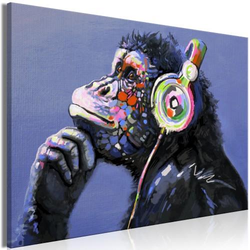 Quadro - Musical Monkey (1 Part) Wide - Quadri e decorazioni