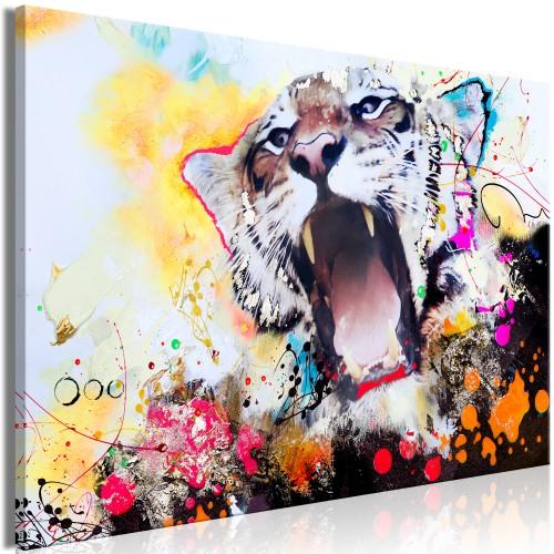 Quadro - Tiger's Roar (1 Part) Wide - Quadri e decorazioni