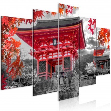 Quadro - Kyoto, Japan (5 Parts) Wide - Quadri e decorazioni