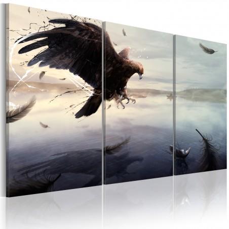 Quadro - Aquila sull'acqua di un lago - Quadri e decorazioni