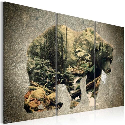 Quadro - Orso nella foresta - Quadri e decorazioni