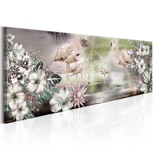 Quadro - Flamingoes and Flowers - Quadri e decorazioni