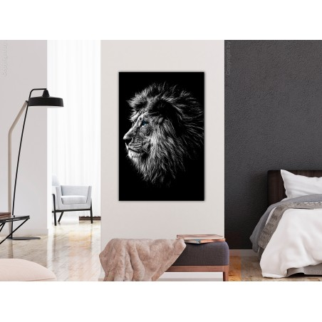 Quadro - Blue-eyed Lion (1 Part) Vertical - Quadri e decorazioni