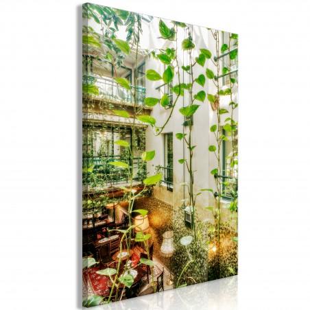 Quadro - Cracow: Cafe with Ivy (1 Part) Vertical - Quadri e decorazioni