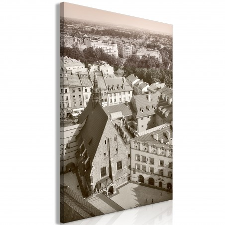 Quadro - Cracow: Old City (1 Part) Vertical - Quadri e decorazioni