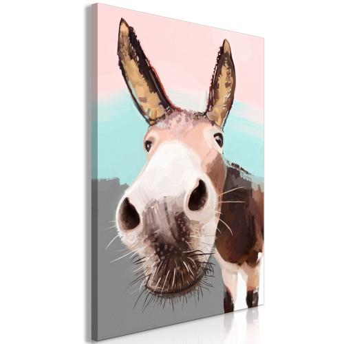 Quadro - Curious Donkey (1 Part) Vertical - Quadri e decorazioni