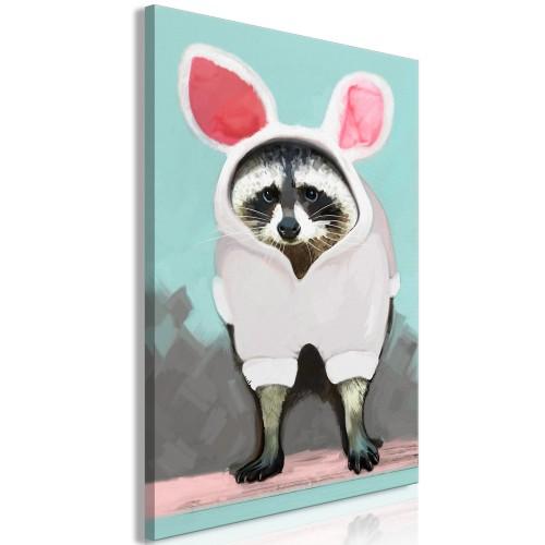 Quadro - Raccoon or Hare? (1 Part) Vertical - Quadri e decorazioni