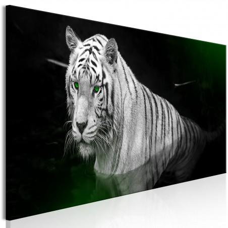 Quadro - Shining Tiger (1 Part) Green Narrow - Quadri e decorazioni