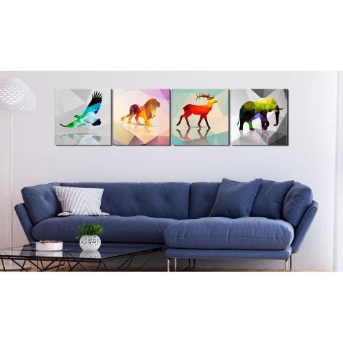 Quadro - Colourful Animals (4 Parts) - Quadri e decorazioni
