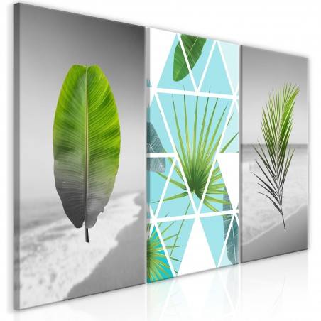 Quadro - Leaves on the Beach (3 Parts) - Quadri e decorazioni