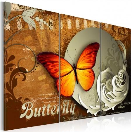 Quadro - Farfalla ardente e la luna piena - Quadri e decorazioni