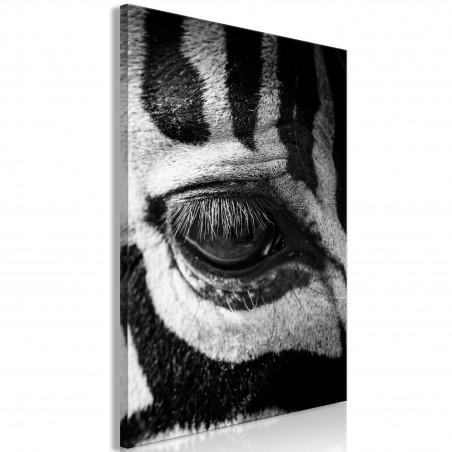 Quadro - Zebra Eye (1 Part) Vertical - Quadri e decorazioni