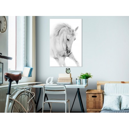 Quadro - White Horse (1 Part) Vertical - Quadri e decorazioni
