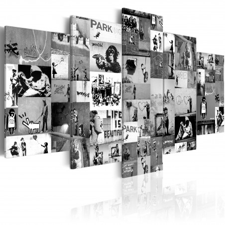 Quadro - Banksy: Graffiti Collage IV - Quadri e decorazioni