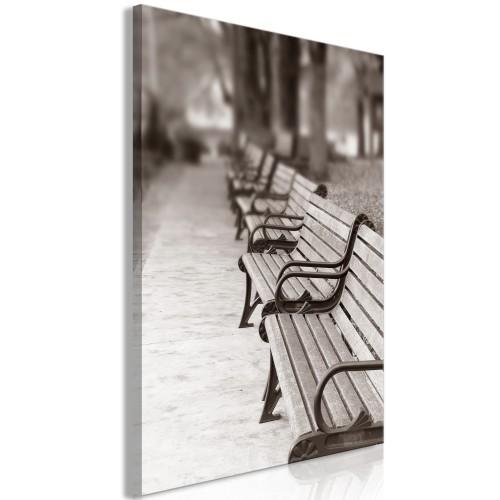 Quadro - Park Benches (1 Part) Vertical - Quadri e decorazioni