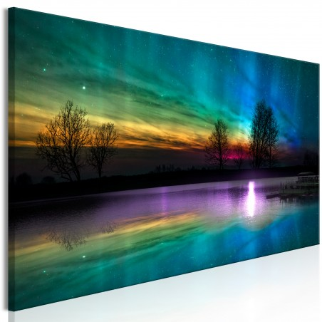 Quadro - Rainbow Aurora (1 Part) Narrow - Quadri e decorazioni