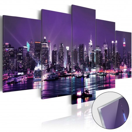 Quadri su vetro acrilico - Purple Sky [Glass] - Quadri e decorazioni