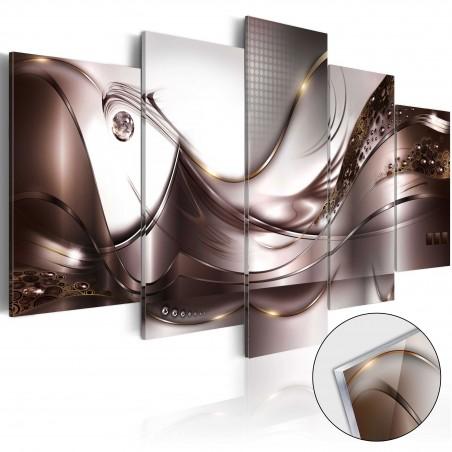 Quadri su vetro acrilico - Golden Storm [Glass] - Quadri e decorazioni