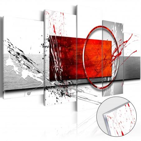 Quadri su vetro acrilico - Wintry Expression [Glass] - Quadri e decorazioni