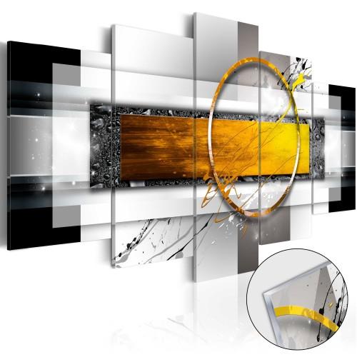 Quadri su vetro acrilico - Golden Shot [Glass] - Quadri e decorazioni