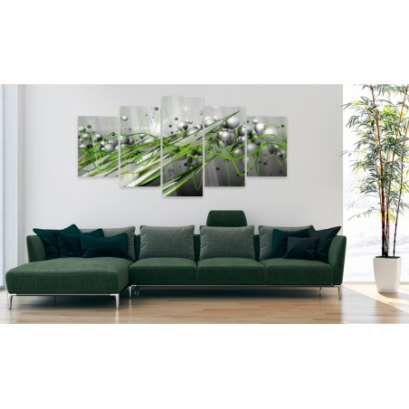 Quadri su vetro acrilico - Green Rhythm [Glass] - Quadri e decorazioni