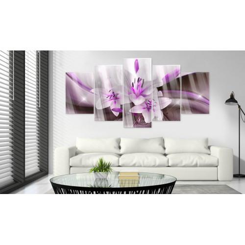 Quadri su vetro acrilico - Violet Desert Lily [Glass] - Quadri e decorazioni