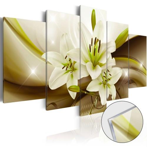 Quadri su vetro acrilico - Modern Lily [Glass] - Quadri e decorazioni