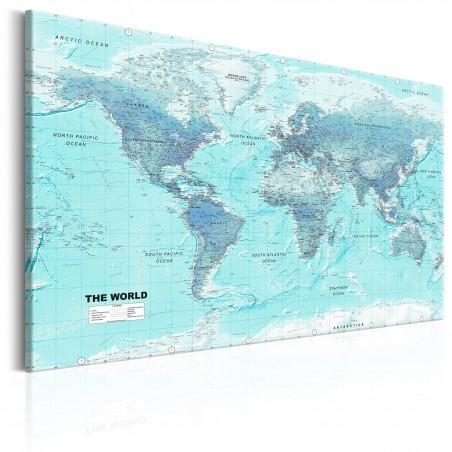 Quadro - World Map: Sky Blue World - Quadri e decorazioni