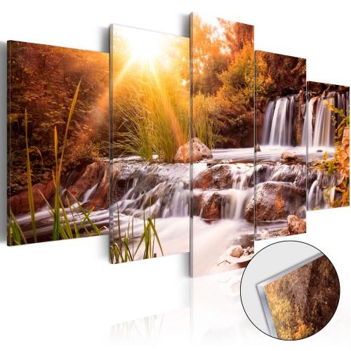Quadri su vetro acrilico - Autumn's Valley [Glass] - Quadri e decorazioni