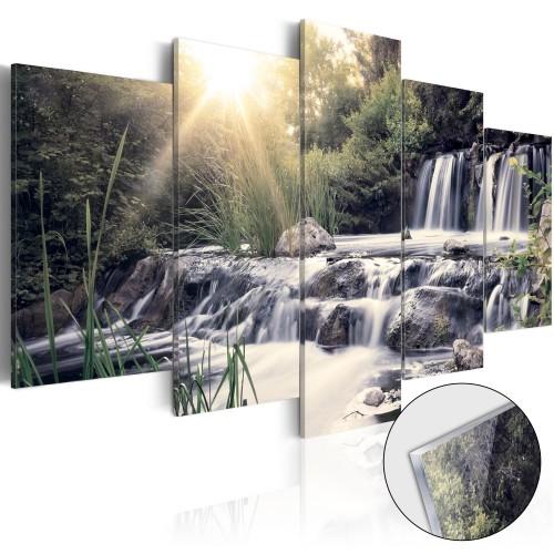 Quadri su vetro acrilico - Waterfall of Dreams [Glass] - Quadri e decorazioni