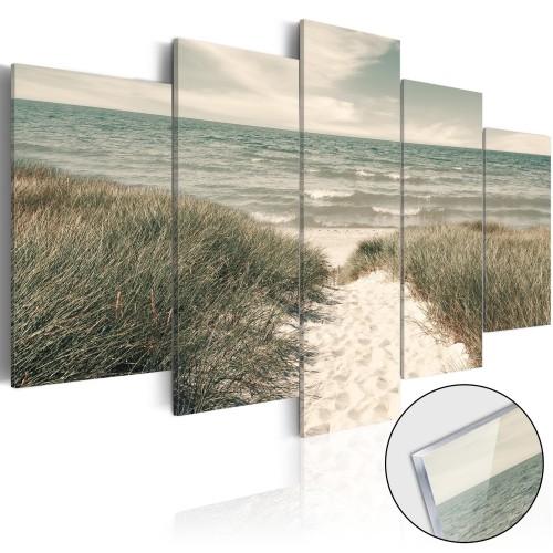 Quadri su vetro acrilico - Quiet Beach [Glass] - Quadri e decorazioni