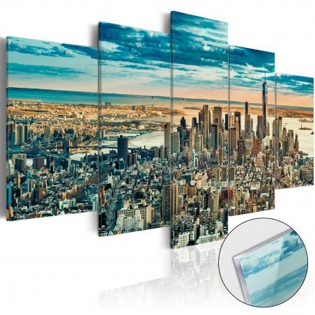 Quadri su vetro acrilico - NY: Dream City [Glass] - Quadri e decorazioni