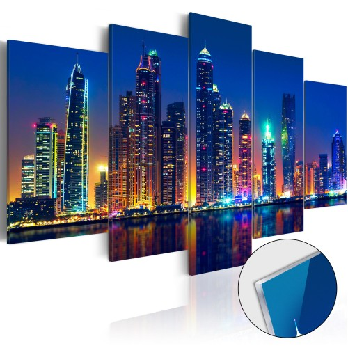 Quadri su vetro acrilico - Nights in Dubai [Glass] - Quadri e decorazioni
