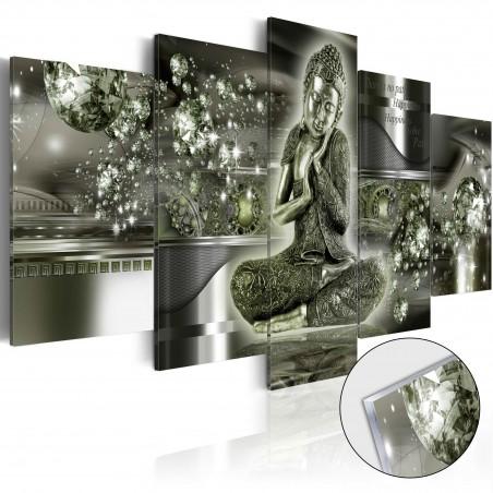 Quadri su vetro acrilico - Emerald Buddha [Glass] - Quadri e decorazioni