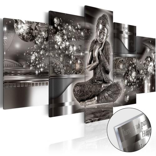 Quadri su vetro acrilico - Silver Serenity [Glass] - Quadri e decorazioni