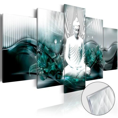 Quadri su vetro acrilico - Azure Meditation [Glass] - Quadri e decorazioni