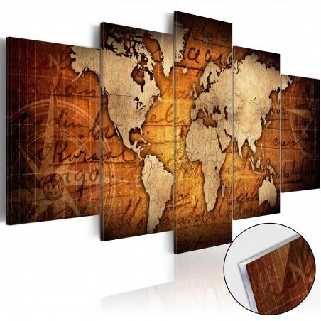 Quadri su vetro acrilico - Acrylic prints – Bronze map I - Quadri e decorazioni