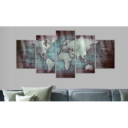 Quadri su vetro acrilico - Acrylic prints – Bronze map II - Quadri e decorazioni