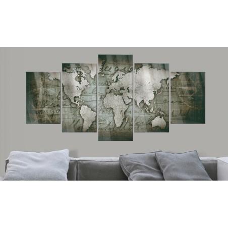 Quadri su vetro acrilico - Acrylic prints – Bronze map III - Quadri e decorazioni